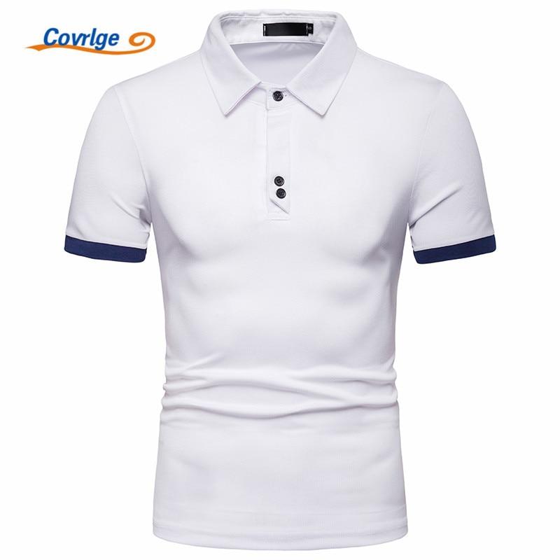 Covrlge Brand New Mens Polo Shirt High Quality Men Cotton Short Sleeve Brands Jerseys Summer Shirts MTP122