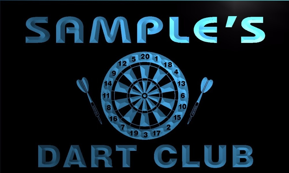 TM030 nombre personalizado dardo Club Bar cerveza luz de neón LED signos