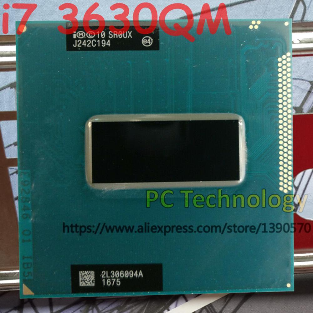 Original intel core I7-3630QM sr0ux cpu i7 3630qm processador 2.4 ghz l3 = 6 m quad core frete grátis navio para fora dentro de 1 dia
