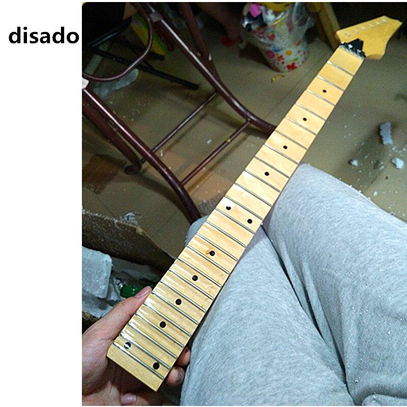 Diado 24 trastes, pintura brillante, cuello de guitarra eléctrica de Arce, diapasón de festón de Arce, puntos incrustados, accesorios para guitarra