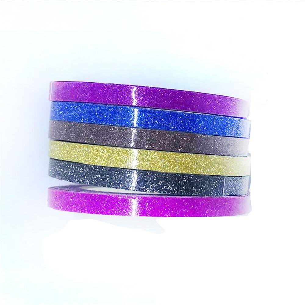 6pcs/Set Glitter Washi Tape Set Japanese Stationery Scrapbooking Decorative Tapes Adhesive Tape Kawai Adesiva Decoration