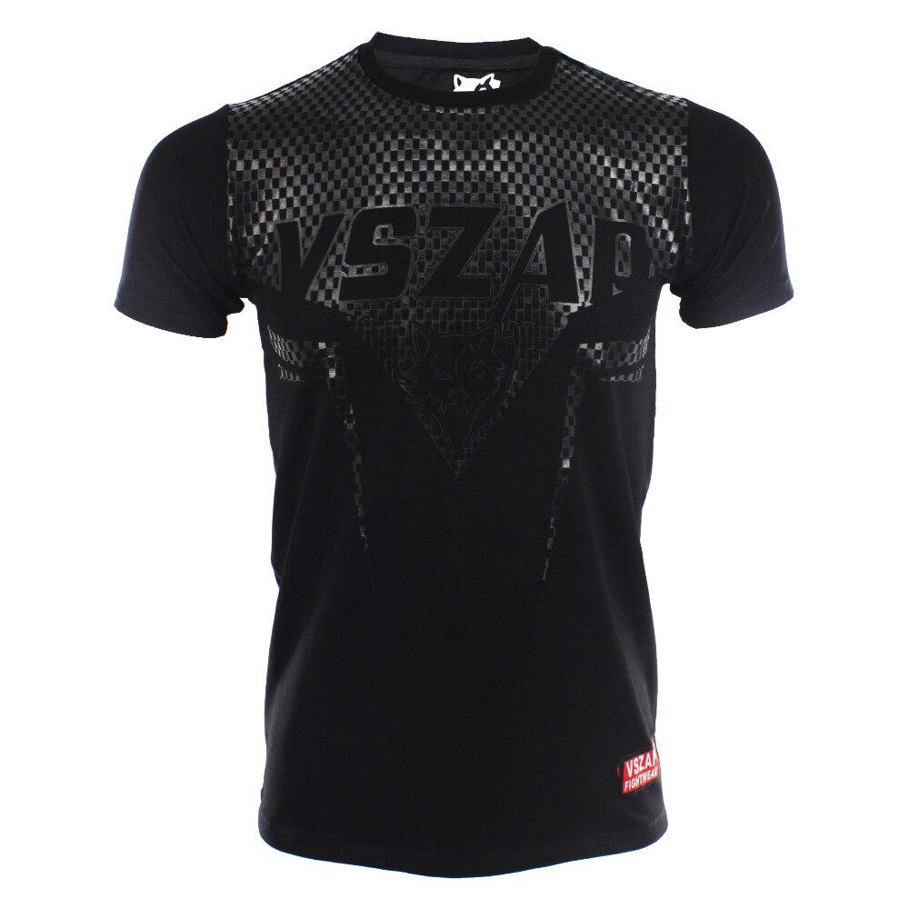 Camisetas de artes marciales mixtas MMA VSZAP Camiseta de manga afilada ropa de combate muay Thai camisa mma rashguard camiseta algodón elasticidad S-4XL