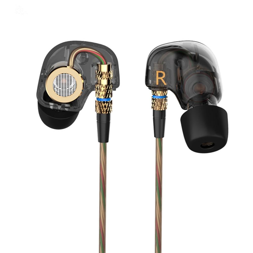 Kz ate 3.5mm fones de ouvido intra-auriculares hifi metal fone de ouvido super bass isolamento de ruído com microfone