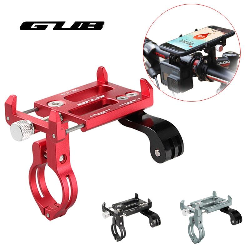 Soporte para teléfono móvil de bicicleta multifuncional GUB soporte de aleación de aluminio para motocicleta GPS Smartphone 3,5-7,15 pulgadas soporte para cámara deportiva para teléfono