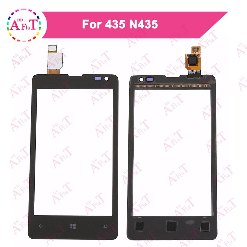 "5 unids/lote 4,0 ""para Nokia Microsoft Lumia 435 N435 532 N532 Sensor de Digitalizador de pantalla táctil Panel de lente de vidrio exterior 3m sin pegamento"