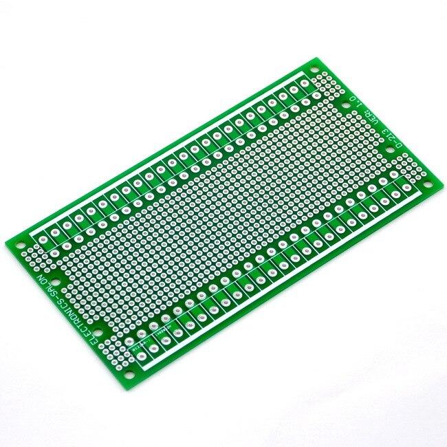 (10 pçs/lote) Duplo-Side Prototype PCB, PCB Universal, 137.4x72mm.