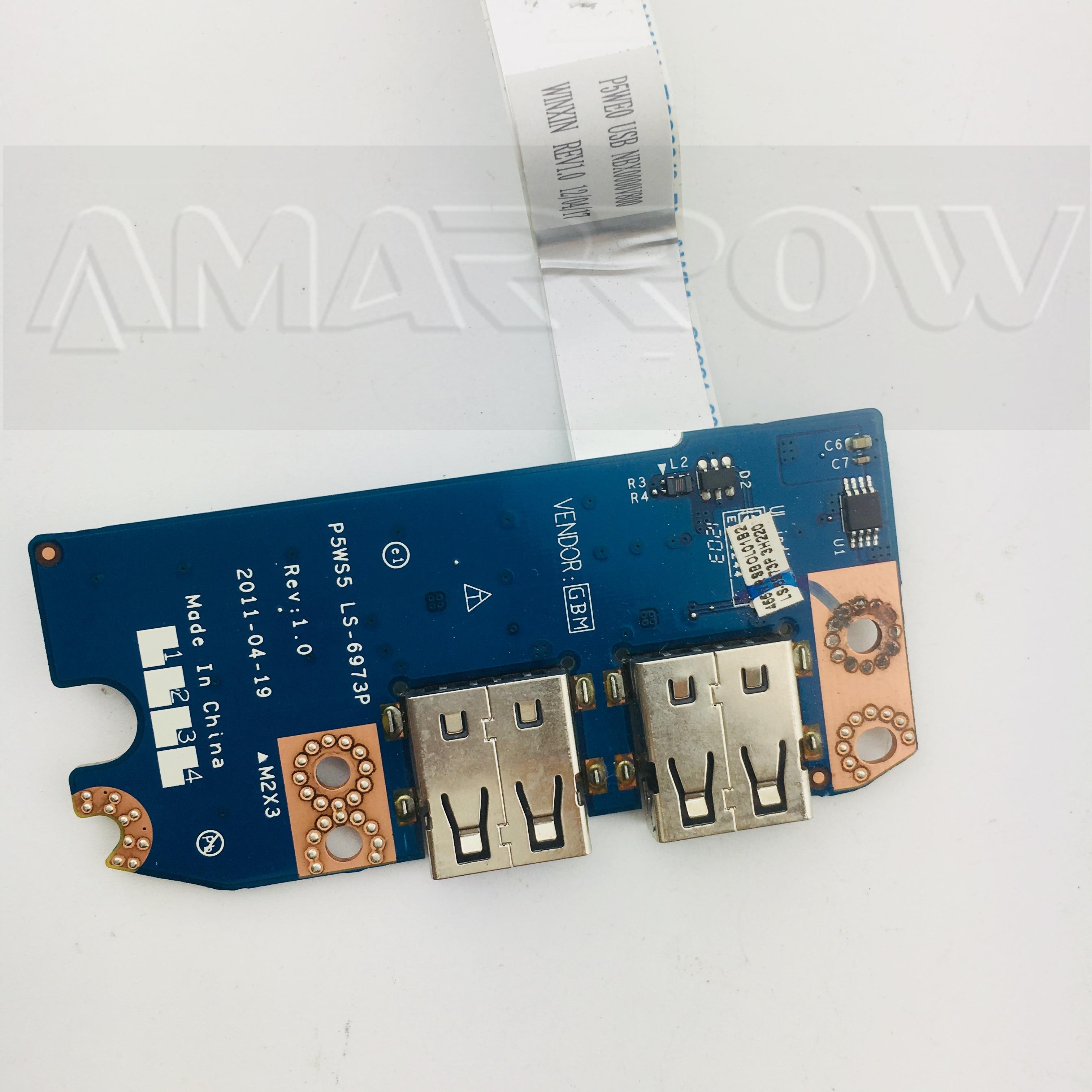 Original envío gratis para ACER Gateway NV55 NV55S NV55S37U USB Board LS-6973P