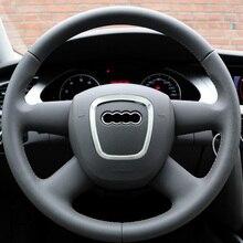 Autocollant de décoration de roue chromé   Emblèmes de décoration de volant, accessoires dautocollants de couverture de cadre en paillettes, pour Audi A4 A5 A6 Q5 Q7