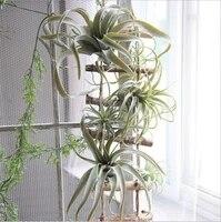 Tilandsia     herbe a Air artificielle  succulente feuille dananas floquee  fausse plante  fleur de Table  decoration de Bouquet de mariage
