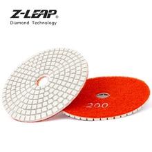 Z-LEAP 4 inch Diamond Polishing Pad White Resin Bond Wet Polishing Wheel Grinding disc Stone Granite Marble Abrasive Tool