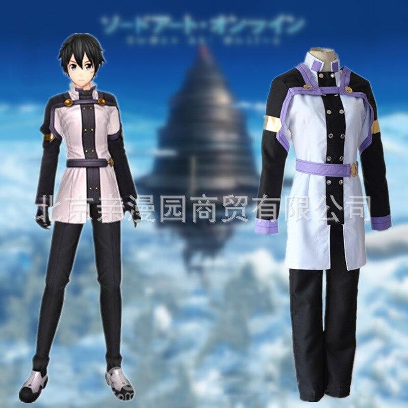 Disfraz de Anime Sword Art Online, disfraz de Anime, disfraz de Kirigaya Kazuto a escala original, uniforme Unisex, disfraz de Halloween