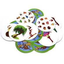 Novo jogo de tabuleiro rally categoria até 121 cartas de jogo para festa de família jogo crianças aprender animais plantas frutas instrumentos