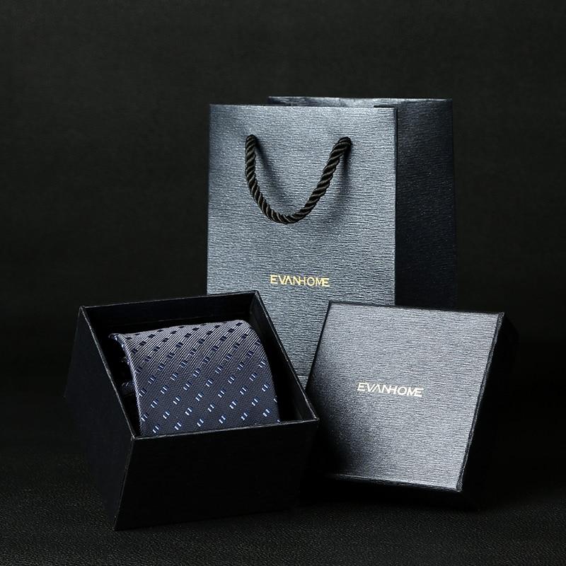 European Men's Fashion Necktie Ties Deep Blue Dot 8cm Tie Casual Bow Tie England Cravat Business Man Wedding Party Groom Wear
