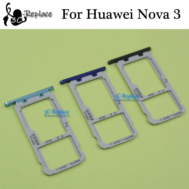 Para Huawei Nova 3 Nova3 PAR-AL00 bandeja Sim Micro SD ranura para tarjetas adaptador de tarjeta Sim