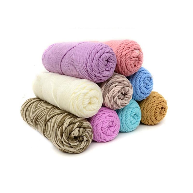 Hilo grueso de colores para tejer tejido de bebé, hilo de lana para Hilo de Tejer a mano de 100g 1 Uds.