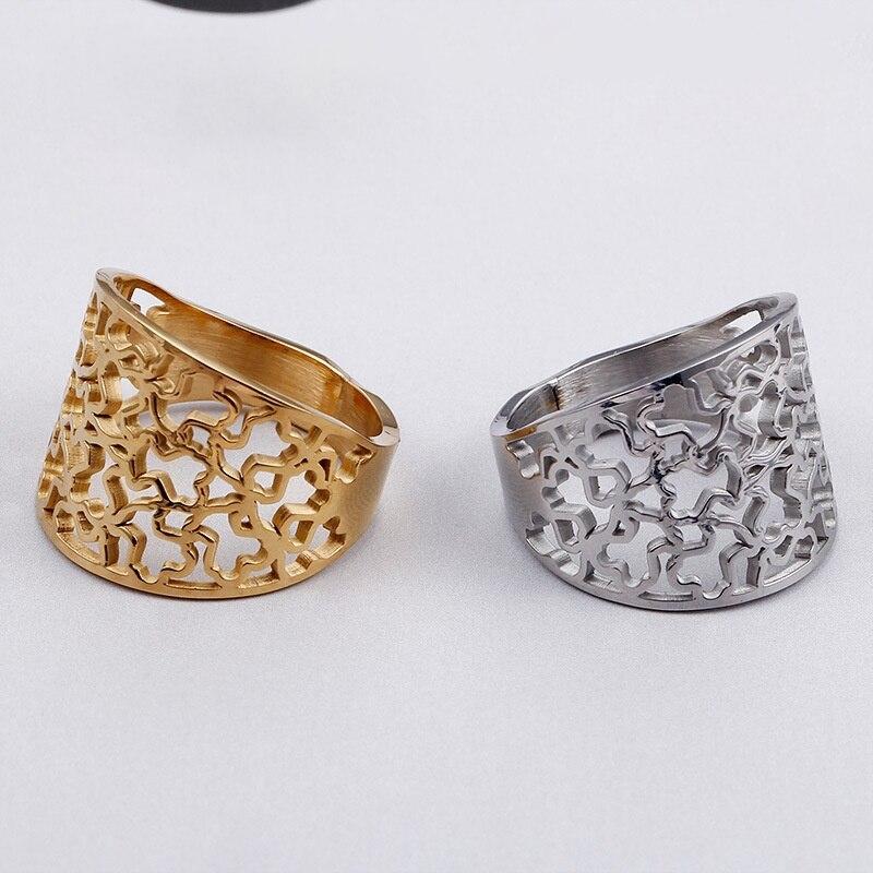 Urso oco anel de urso novo produto bonito animal jóias ouro prata luxry design para presentes femininos moda atacado