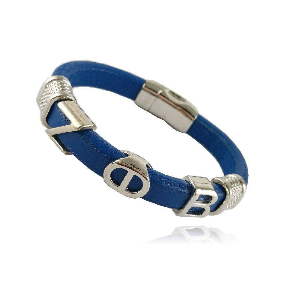 customized  Jewelry gift  ZETA PHI BETA  Sorority divine Fraternity ZPB Double color leather magnetic  bangle bracelet