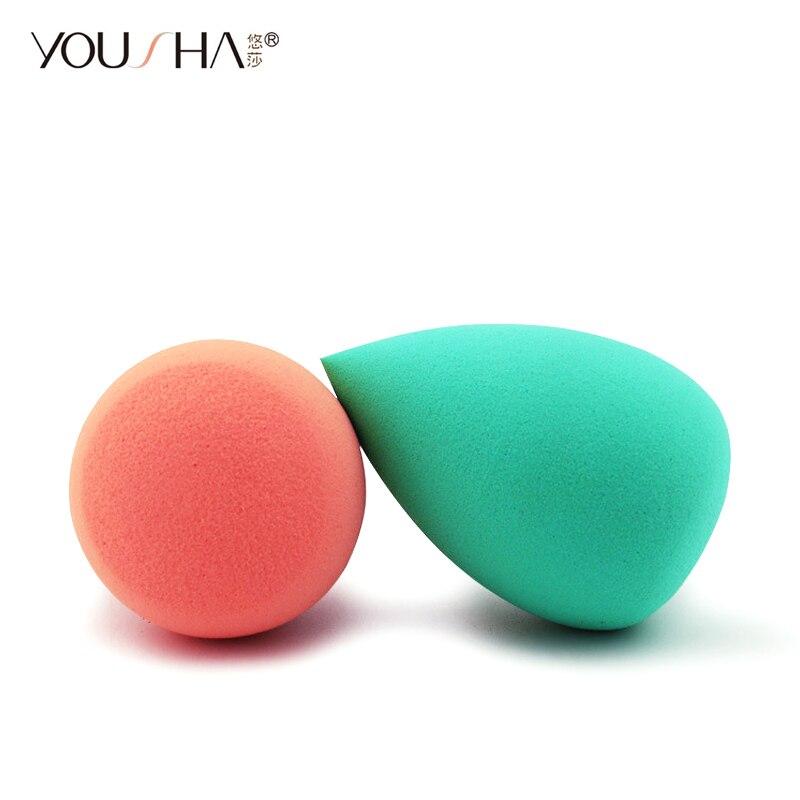Esponja de maquillaje YOUSHA, esponja de maquillaje de huevo cosmético, esponja de maquillaje para cara, base líquida, crema BB, aplicador para polvos, corrector, herramienta para colorete