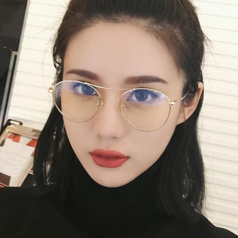 Coreano Mulheres Da Moda Óculos De Sol Dos Homens Lente Clara Transparente Rosa Oceano Cor Da Lente Óculos De Sol Das Mulheres Dos Homens Da Aviação 2019