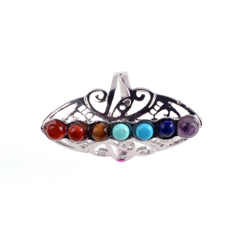 Anel nobre feminino 7 chakra, anel de rosa dourado lua anéis para mulheres jóias gargantilha venda por atacado preço