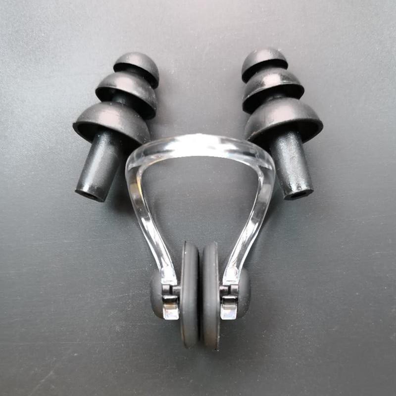 1 Set Waterproof Soft Silicone Swimming Set Nose Clip Ear Plug Earplug Protection