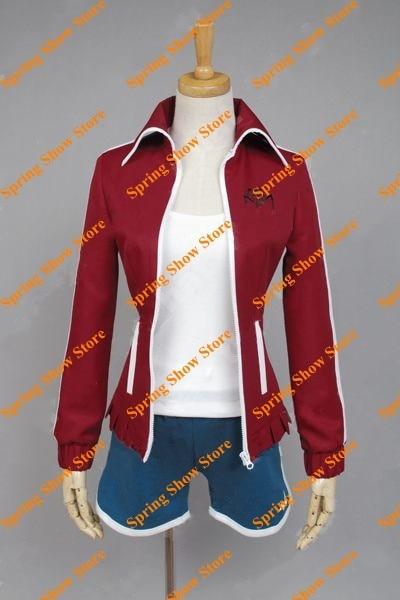Danganronpa Aoi Asahina Cosplay Costume Anime Custom Made Red&Blue Uniform