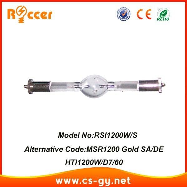 ROCCER corto HMI1200/S lámpara DE cabeza móvil MSR1200/2 oro SA/2/DE HTI1200W/D7/75 hmi 1200/2/S lámpara DE descarga DE gas
