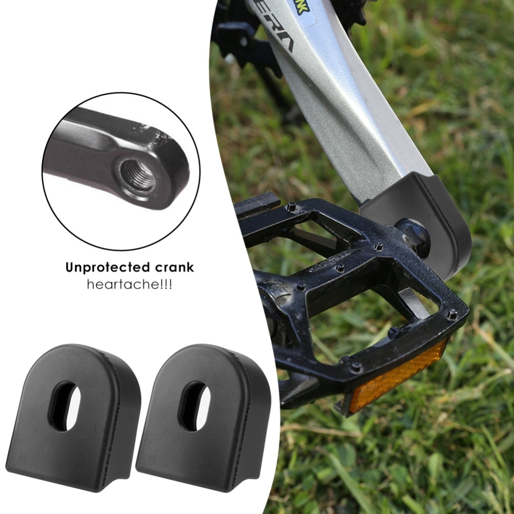 Protector de manivela de bicicleta de 2 uds, Protector de manivela de Gel de sílice, protectores de arranque, estuche Protector de manivela, accesorios de bicicleta de montaña MTB