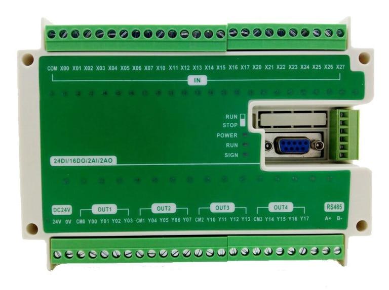 FX3U-40MR/MT-2AD2DA لوحة PLC يدعم RS485 التناظرية
