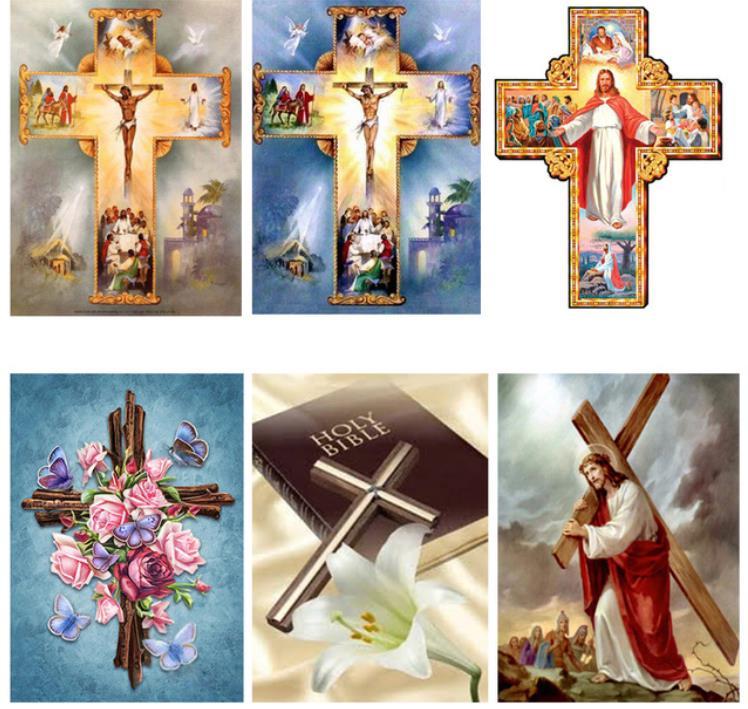 5D DIY алмазы, инкрустированный алмазами вышитый Алмаз Картина христианский крест Иисус Христос вышивка крестиком украшение для дома
