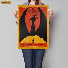 Retro HOBBIT Movie poster Print vintage kraft paper painting antique wall sticker home decoration 45.5x31.5cm