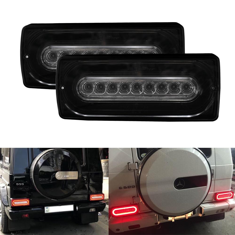 Luz trasera LED de humo dinámico para 90-15 Benz g-class W463 G500 G550 G55 AMG Kit de montaje señal de giro antiniebla trasera