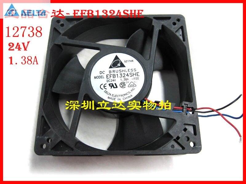 Original for delta EFB1324SHE  127MM 12738 127*127*38MM 24V 1.38A cpu cooler heatsink axial Cooling Fan