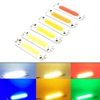 1pcs led module cob light source colorful led cob strip light source moudle dc 12v 2w diy led chip bulb lamp 6015mm