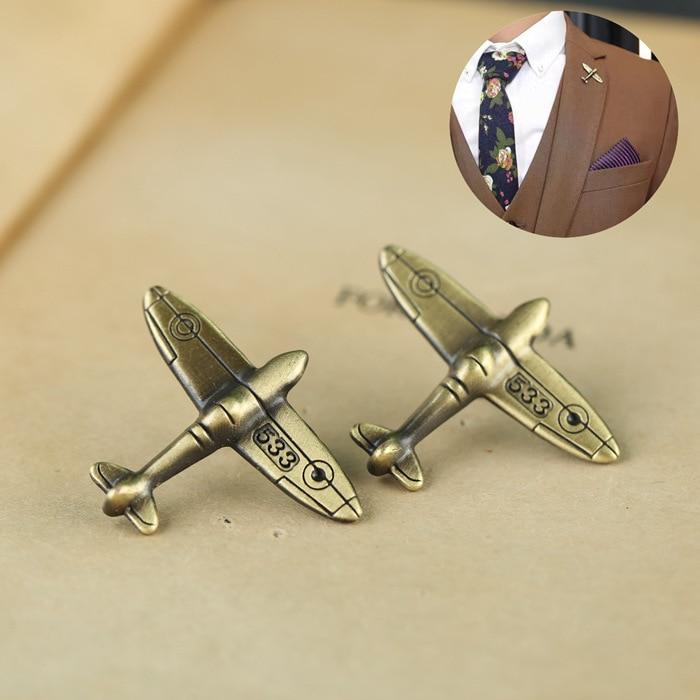 1 PC alliage Antique Bronze couleur avion rétro avion broches broches et broche Badge épinglettes pour hommes