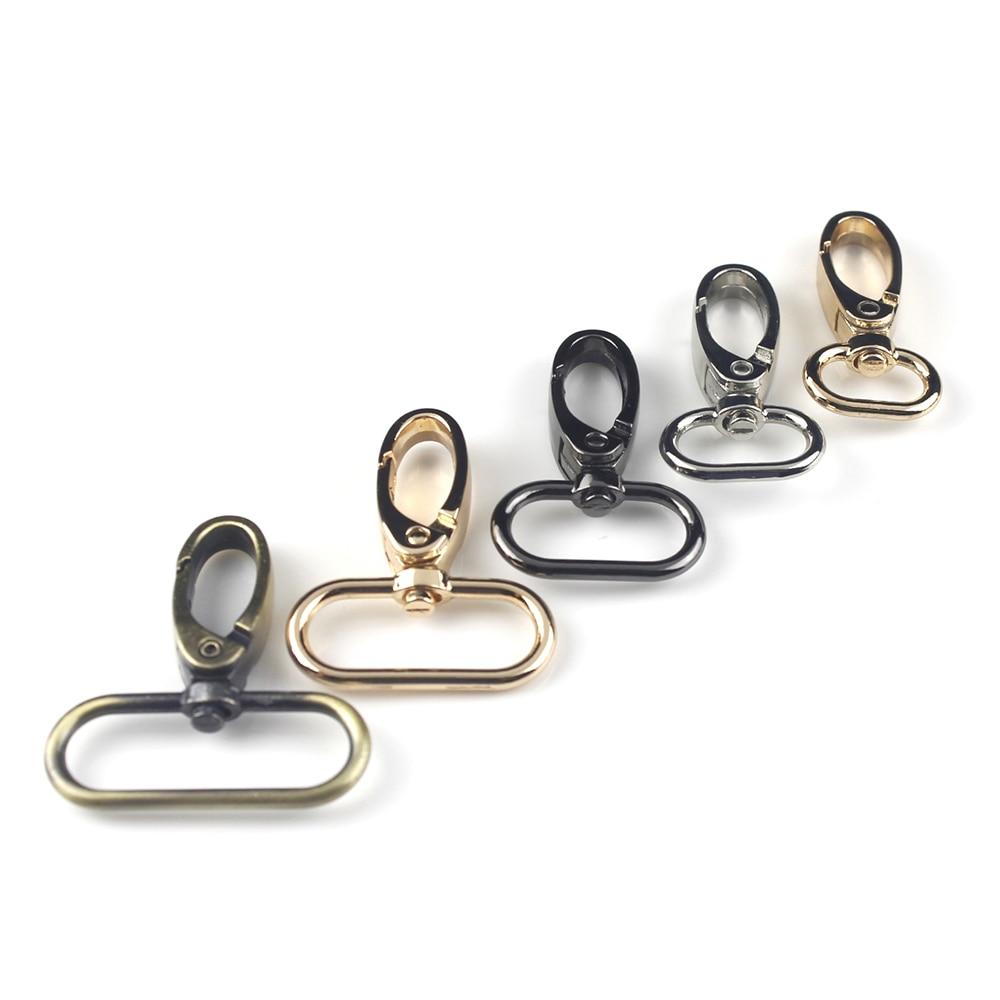 Cierre de Clip de gancho de Metal giratorio para bolso de cuero artesanal Correa oro/plata/bronce/arma de metal