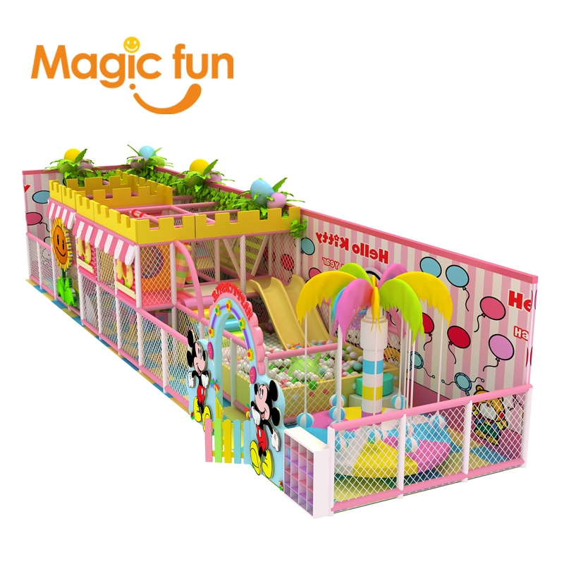 MAGIC FUN indoor play area play house plastic kid slide indoor
