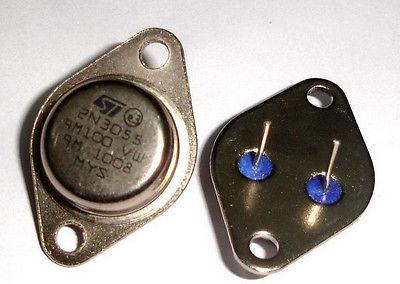10 Uds 2N3055 A-3 15A 60V Transistor de poder NPN