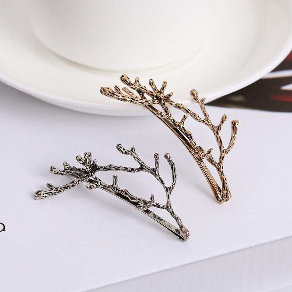 1 шт. модная женская металлическая ветка шпильки листья заколки невидимки для