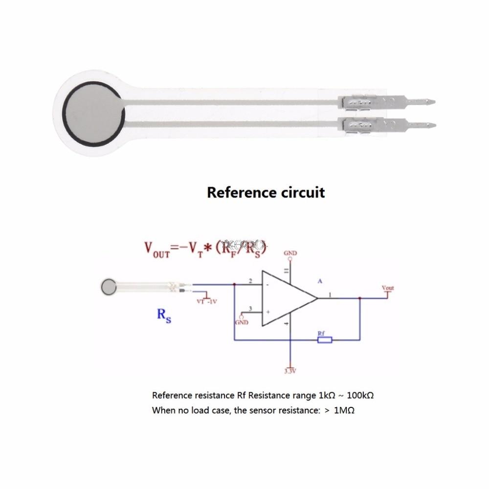 0-500g/0-5Kg/0-20kg DF9-40 Sensor de presión de resistencia de película delgada Sensor de fuerza impermeable M20 dropshipping. Exclusivo.