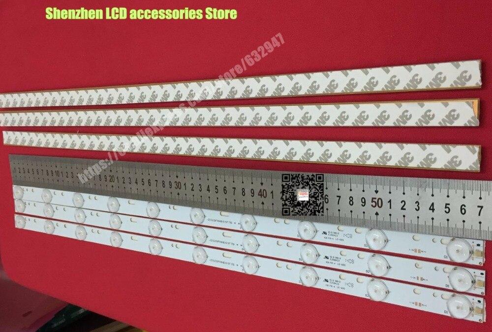 Luz led tv D304PHHB01F5B KJ315D10-ZC14F-03 303KJ315031 D227PGHBYZF6A E348423 10LED 1 PCS = 570 milímetros