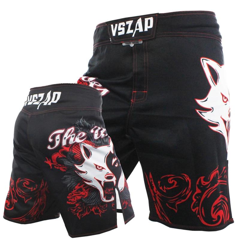 THE WOLVES MMA Fight Shorts Boxing Trunks Jiu-Jitsu Elastic Pants Bad Bo Muay Thai Training Free Kick Boxer Training Shorts