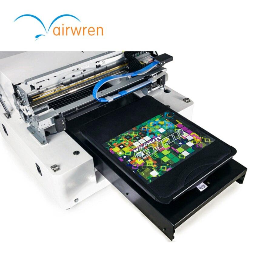Tamaño A3 diy ropa 6 color camiseta impresora DTG plano camiseta máquina de impresión para la impresión directa textil