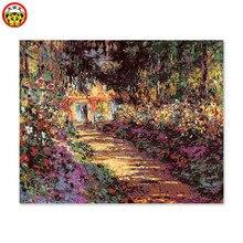 Peinture par numéros art   Peinture par numéros pour décor de maison, peinture décorative, peinture peinte, ses propres empreintes de jardin, Monet