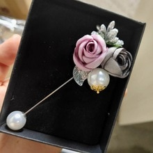 RINHOO dames tissu Art perle tissu fleur broche broche Cardigan chemise châle broche professionnel manteau Badge bijoux accessoires