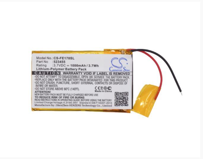 Cameron sino 1000 mah bateria para fiio e17 e7 523455 amplificador de bateria