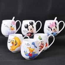 300-400ml Cartoon Tasse Mickey Minnie Keramik Tassen Milch Kreative Mode Paare Griff Kaffee Becher Kinder Wasser Tasse geschenk