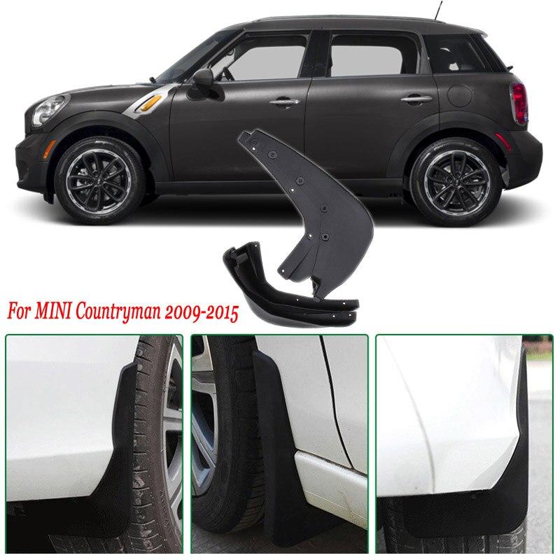 4pcs Premium Heavy Duty Molded Splash Mud Flaps Guards Fenders For Mini Countryman 2009-2015
