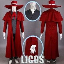 Athemis nouveau Vampire chasseur Cosplay Hellsing Alucard Costumes Cool homme costume et haute teneur en coton Long manteau meilleures tenues