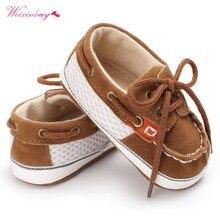 WEIXINBUY chaussures pour bébés garçons   Chaussures pour premiers marcheurs en toile de coton, baskets pour bébés avec bretelles de couture, semelle souple, antidérapantes